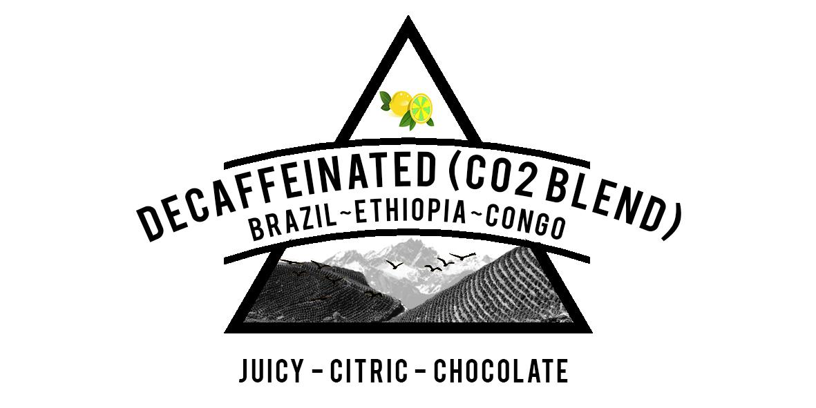 Brazil, Ethiopian and Congo decaffeinated coffee blend